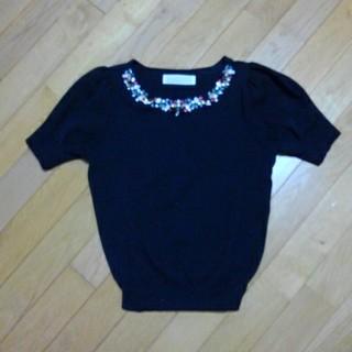 トランテアンソンドゥモード(31 Sons de mode)の美品ビジュートップス(ニット/セーター)