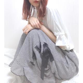 アンクルージュ(Ank Rouge)の裾フリルワイドパンツ(その他)