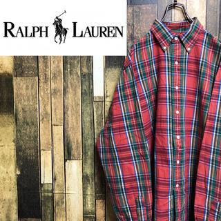 ラルフローレン(Ralph Lauren)の【激レア】ラルフローレン☆ワンポイント刺繍ロゴレトロチェックシャツ 90s(シャツ)