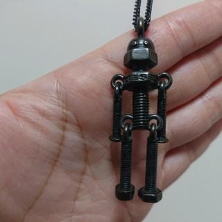 ディーゼル(DIESEL)の販売終了品! DIESEL 黒 ロボット デザイン ネックレス(ネックレス)