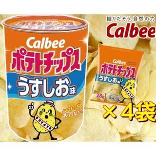 カルビー(カルビー)のカルビー ポテトチップス(うすしお味) BIG缶 【新品・未開封品】(菓子/デザート)