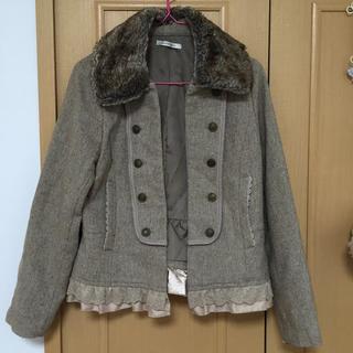 アクシーズファム(axes femme)のナポレオンツイードジャケット(ノーカラージャケット)