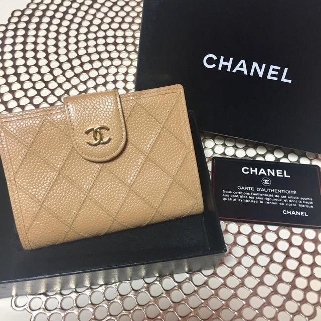シャネル カンボンライン 財布 コピー代引き | CHANEL - CHANEL シャネル 二つ折り財布 ベージュの通販 by rui's shop|シャネルならラクマ