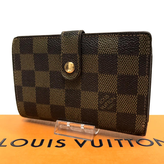 LOUIS VUITTON - ルイヴィトン ダミエ 折り財布 がま口 金具 ヴィエノワ 使いやすい かわいい の通販 by はな|ルイヴィトンならラクマ