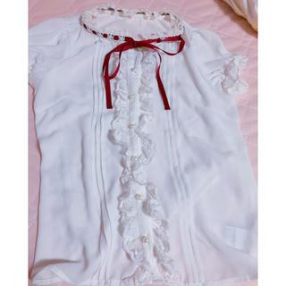 アンクルージュ(Ank Rouge)のアンクルージュ♡ホワイトブラウス♡赤いリボン(シャツ/ブラウス(半袖/袖なし))