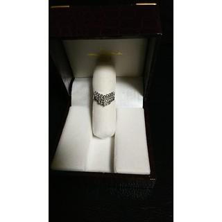 お値下げ  Pt900  ダイヤモンド  V字  リング(リング(指輪))