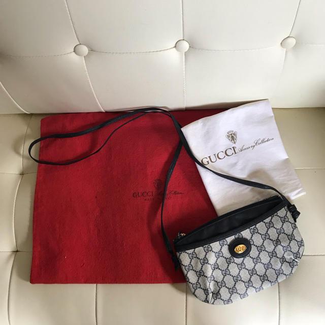 Gucci - レア 極 美品 GUCCI オールド グッチ ポシェット バッグ ネイビーの通販 by Safari|グッチならラクマ