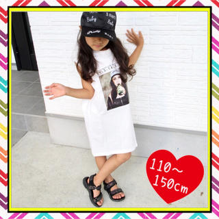 【ラスト1点】 Tシャツ ワンピース ビッグT 女の子 GKAMGKAM(ワンピース)