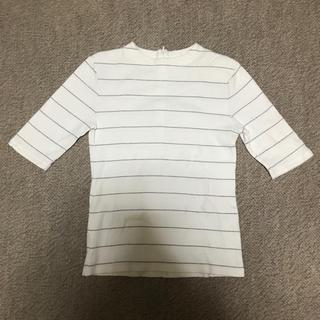 ミスティウーマン(mysty woman)のボーダートップス(Tシャツ(半袖/袖なし))