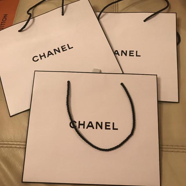 CHANEL - CHANEL ショップ袋 シャネル 3枚の通販 by sunny|シャネルならラクマ