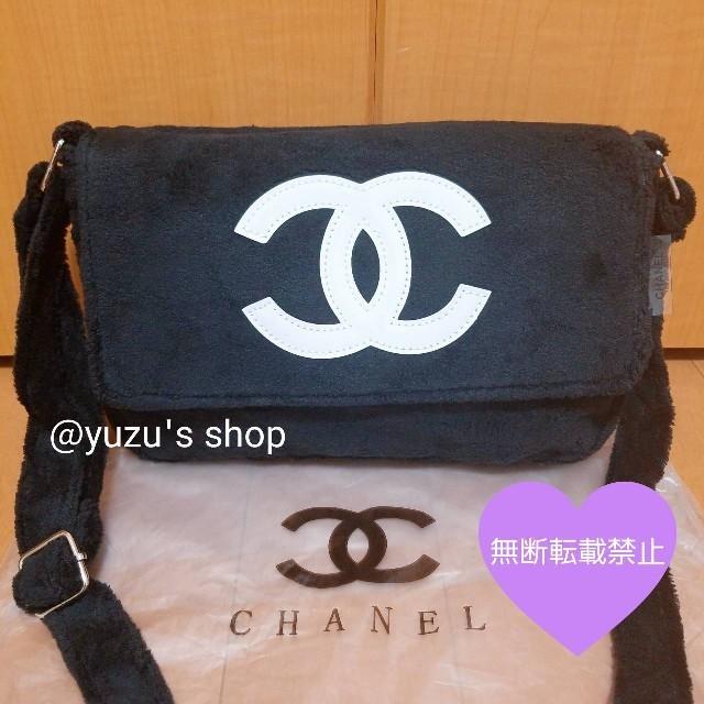 CHANEL - ♡CHANEL ノベルティ パイル ショルダーバッグ 黒♡の通販 by yuzu's shop|シャネルならラクマ