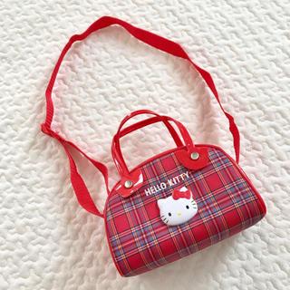 ハローキティ(ハローキティ)の新品 未使用 hello kitty ハローキティ ショルダー バッグ チェック(ポシェット)