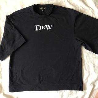 ドゥロワー(Drawer)のサイズ2 Drawer プリントエンブレム TEE ネイビー(Tシャツ(半袖/袖なし))