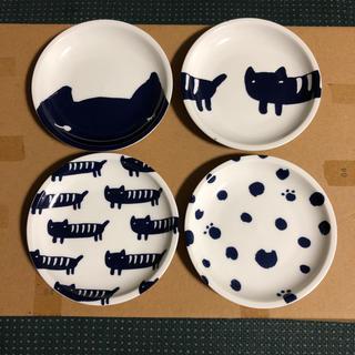 ツモリチサト(TSUMORI CHISATO)のツモリチサト ねこの豆皿 4点セット(食器)