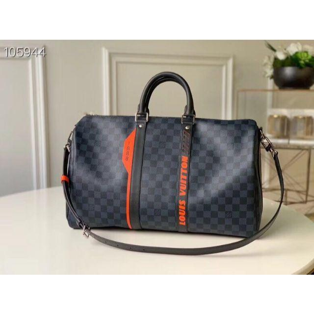 LOUIS VUITTON - 【LOUIS VUITTON】オレンジロゴ ダミエ・コバルト バッグの通販 by ワカ0's shop|ルイヴィトンならラクマ
