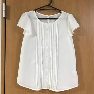 ジーユー(GU)のGU ブラウス フリル袖(シャツ/ブラウス(半袖/袖なし))