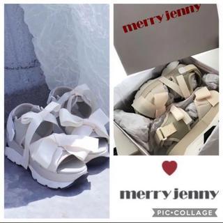 メリージェニー(merry jenny)の新品 merryjenny  メリージェニー リボンスニーカーサンダル(サンダル)