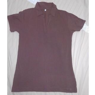 ムジルシリョウヒン(MUJI (無印良品))のポロシャツ 半袖 茶色 無印良品(ポロシャツ)