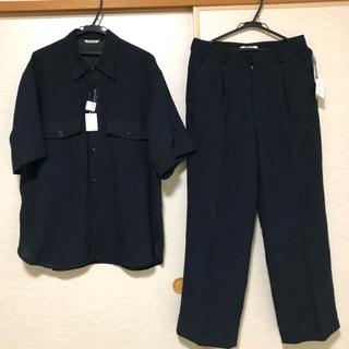 COMOLI - 値下げOK!AURALEE linen silk セットアップ 黒 完売品