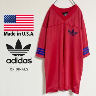 アディダス(adidas)の【アメリカ製】オールドアディダス トレフォイルロゴ アメフトメッシュゲームシャツ(Tシャツ/カットソー(半袖/袖なし))