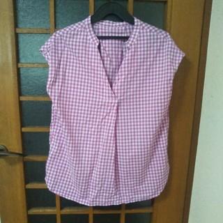 ジーユー(GU)のGU ギンガムチェックシャツ M(シャツ/ブラウス(半袖/袖なし))