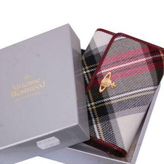 ヴィヴィアンウエストウッド(Vivienne Westwood)のVivienne Westwood ヴィヴィアン 財布 3つ折り チェック 柄(財布)