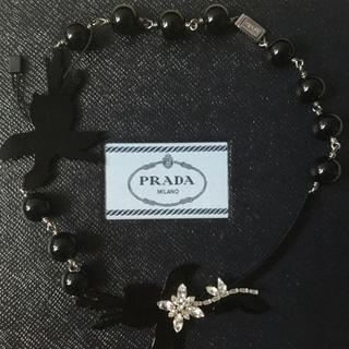 プラダ(PRADA)のプラダ 新品 ネックレス ブラック 最終価格 (ネックレス)