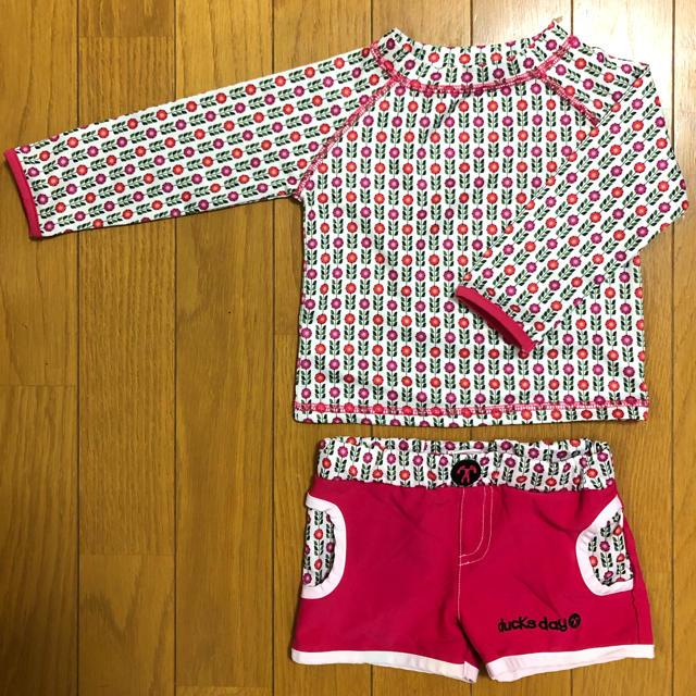 子供 女の子 水着 上下セット 80㎝  キッズ/ベビー/マタニティのベビー服(~85cm)(水着)の商品写真