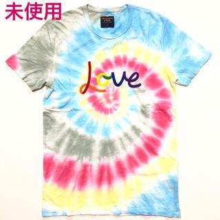 アバクロンビーアンドフィッチ(Abercrombie&Fitch)の未使用 アバクロ プライド タイダイ LOVE Tシャツ(Tシャツ/カットソー(半袖/袖なし))