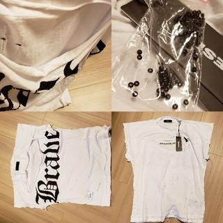 ディーゼル(DIESEL)のタグ付 新品 DIESEL トップス ダメージ 今季 ヴィンテージ ビーズ(Tシャツ(半袖/袖なし))