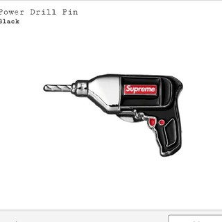シュプリーム(Supreme)のsupreme  Power Drill Pin ドリル ピン week19(バッジ/ピンバッジ)