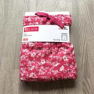 ユニクロ(UNIQLO)の花柄ピンク ユニクロ リラコ XL 新品未使用(ルームウェア)