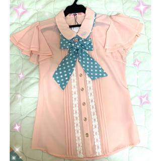アンクルージュ(Ank Rouge)の襟キャンディ刺繍ブラウス♡Ank Rouge(シャツ/ブラウス(半袖/袖なし))