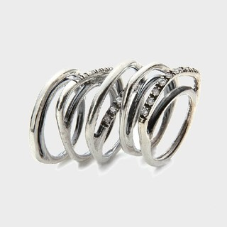 イオッセリアーニ(IOSSELLIANI)のIOSSELLIANI 5連パズルリング ジルコニア イオッセリアーニ 指輪(リング(指輪))