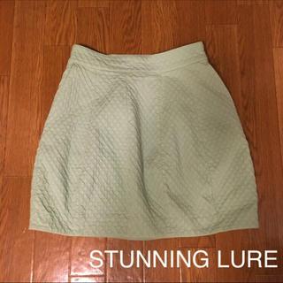 スタニングルアー(STUNNING LURE)の美品 スタニング フレアスカート コクーンスカート (ミニスカート)