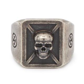 バレンシアガ(Balenciaga)のvetements ヴェトモン スカル シルバー リングXL指輪 silver(リング(指輪))