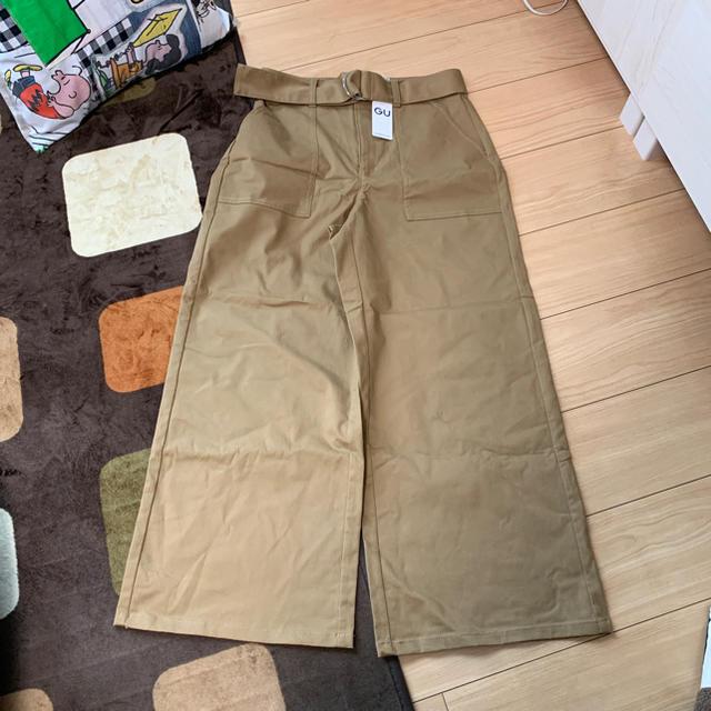 GU(ジーユー)のゆうりん様専用☆☆ GUチノウエストベルトベイカーワイドパンツ レディースのパンツ(チノパン)の商品写真
