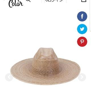 ルームサンマルロクコンテンポラリー(room306 CONTEMPORARY)のlack of color ラックオブカラー ウエスタンワイドパルマ hat(麦わら帽子/ストローハット)
