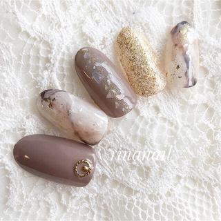 シェル大理石ネイル(つけ爪/ネイルチップ)