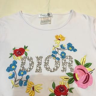 クリスチャンディオール(Christian Dior)のDior 刺繍 長袖Tシャツ (Tシャツ(長袖/七分))