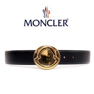 モンクレール(MONCLER)の【1】MONCLER『希少 レア』ブラック レザー ベルト 男女兼用 70(ベルト)