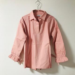 ホッピン(HOTPING)のシャツ/pink/ピンク/リボン(シャツ/ブラウス(長袖/七分))
