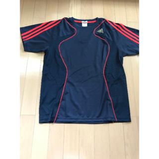 アディダス(adidas)のadidas アディダス スポーツTシャツ 紺/赤 Mサイズ(Tシャツ/カットソー(半袖/袖なし))