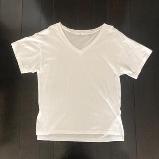 スライ(SLY)のSLY 白Tシャツ コットン100% Vネック レディース (Tシャツ(半袖/袖なし))