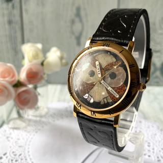 ピエールラニエ(Pierre Lannier)の【未使用品】Pierre Lannier ピエールラニエ 腕時計 フクロウ 茶(腕時計)