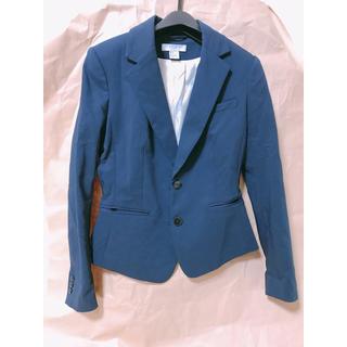 エイチアンドエム(H&M)のジャケット ネイビー(テーラードジャケット)