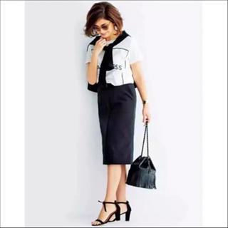 デミルクスビームス(Demi-Luxe BEAMS)の極美品♡Demi-Luxe BEAMS×三尋木奈保  タイトスカート(ひざ丈スカート)
