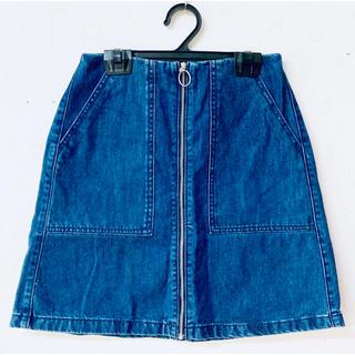 ジーユー(GU)の【GU】デニムスカート (梱包済、即配送可)(ひざ丈スカート)