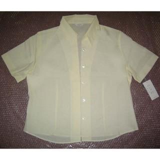 新品 17号 オフィスブラウス 事務服 OL制服 大きいサイズTF(シャツ/ブラウス(半袖/袖なし))