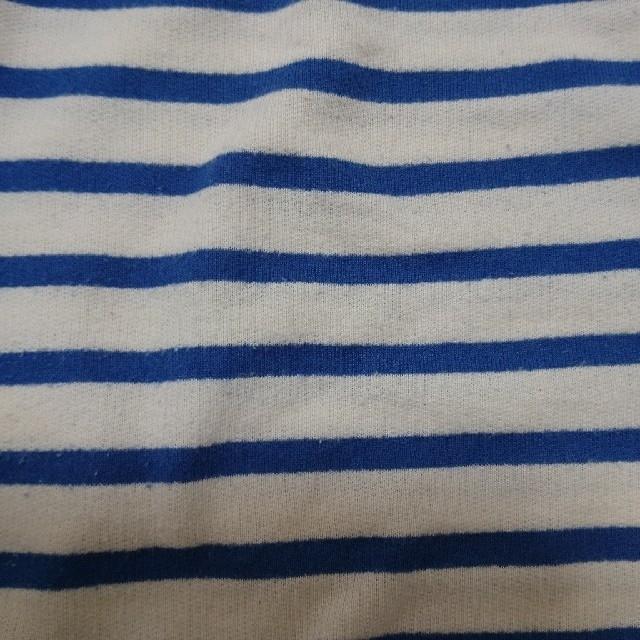 mysty woman(ミスティウーマン)のmysty woman ボーダー トップス ブルー レディースのトップス(Tシャツ(半袖/袖なし))の商品写真